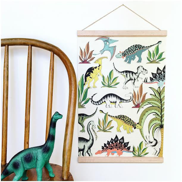 nookoo dino raw IN THE JUNGLE WANDERING DINOSAURS prints by dino raw, dinosaur hanging poster