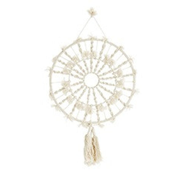 dream catcher macrame wall hanging by madam stoltz,  available at nookoo