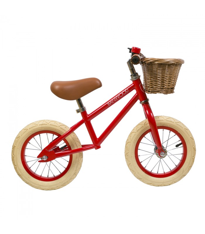 nookoo banwood bike red first go balance bike