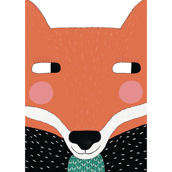 Big Fox colour print by East End Prints