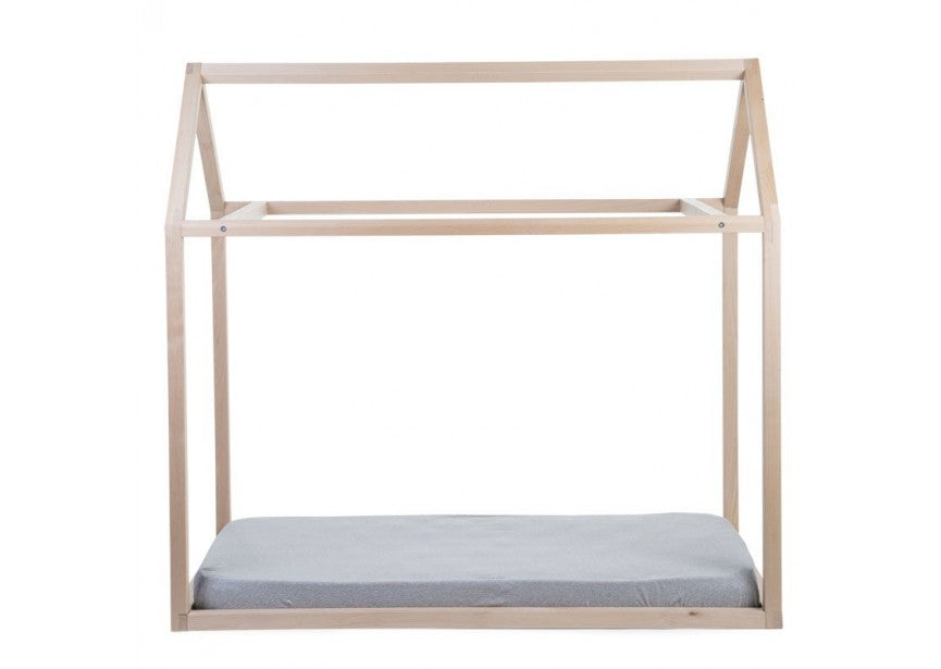 Natural House Toddler Bed Frame, 70 x 140cm-House Bed-Nookoo