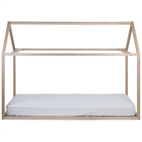 Natural House Bed Frame, 90 x 200cm-House Bed-Nookoo