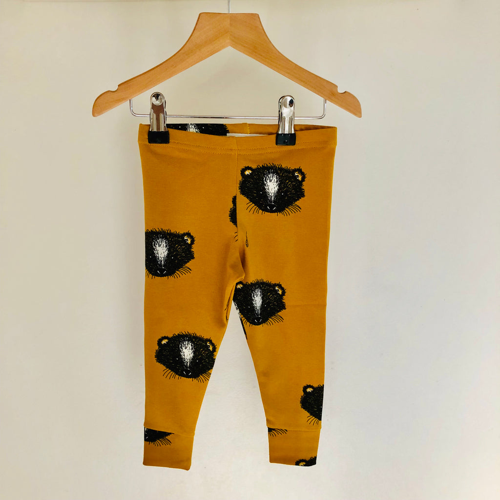 Mustard Skunk Leggings-Nookoo