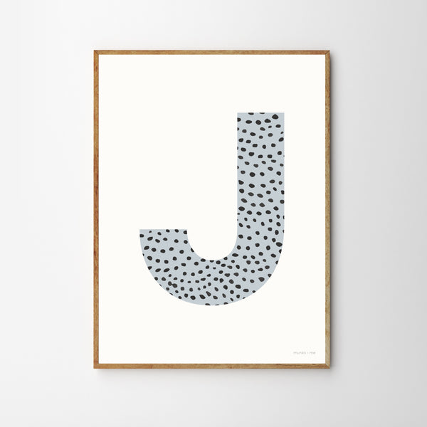 SPRINKLE MONOGRAM CHILDREN'S NURSERY PRINT - BLUE-Poster-Nookoo