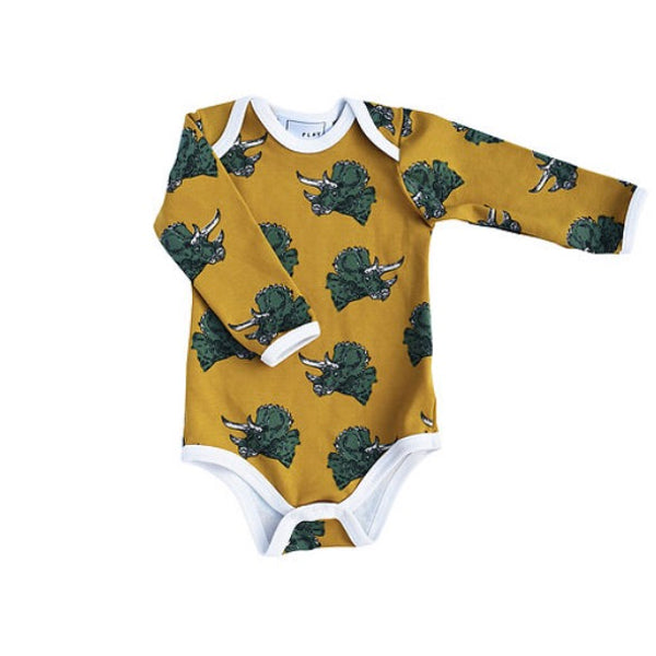 Dinosaur baby grow (Triceratops)-Nookoo