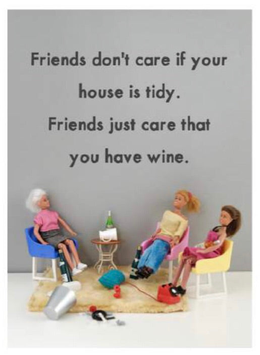 Friends don't care greeting card-Stationery-Nookoo