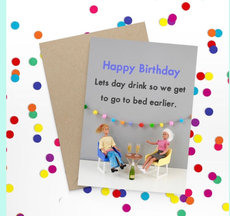 Day drink Birthday Card-Stationery-Nookoo