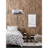 Paw print bed set neo black and white 150 X 200-BEDDING-Nookoo