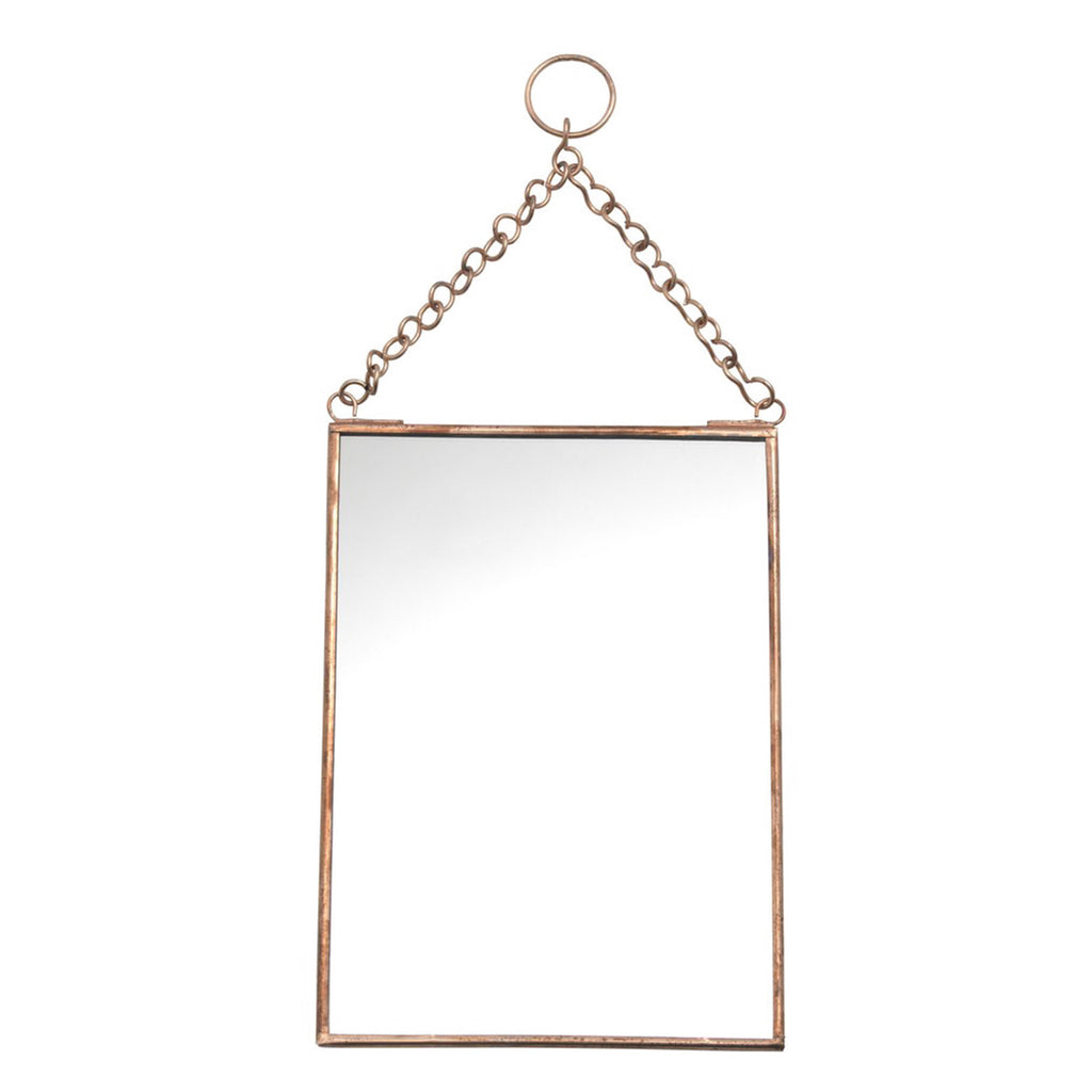 Hanging copper mirror medium for Hanging mirror