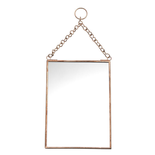 Hanging Copper Mirror Medium-Nookoo