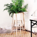Bamboo Flower Pot Stand-Planter-Nookoo