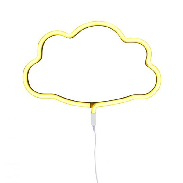 Neon style light: Cloud - yellow-lighting-Nookoo