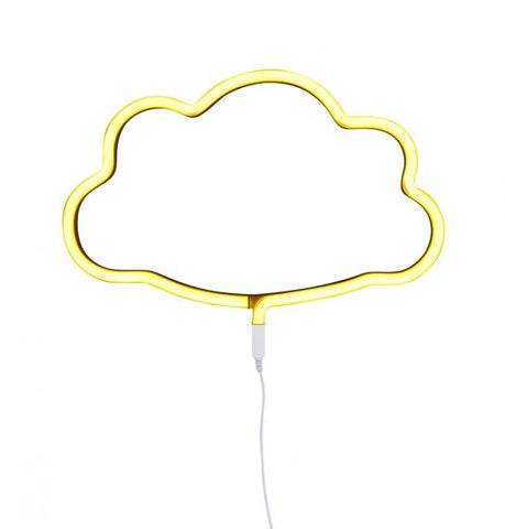 Neon style light: Cloud - yellow