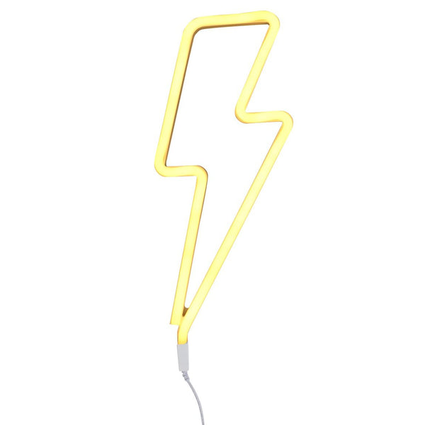 nookoo neon wall light lightening bolt, perfect for kids rooms.. By A Lovely Little Company