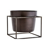 Flower pot with square stand-Nookoo
