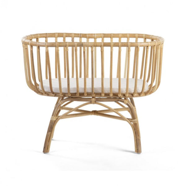 Rattan cradle 80 x 40 cm & mattress-crib-Nookoo