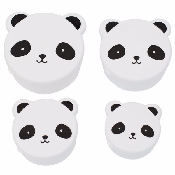 Snack boxes Panda (Set of 4)-Dinner set-Nookoo