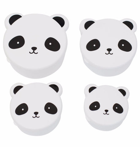 Snack boxes Panda (Set of 4)
