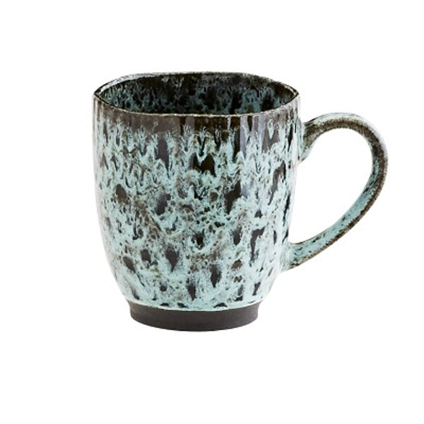 Madam stoltz Stoneware mug green and black available at nookoo