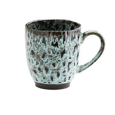Stoneware Green & Black mug