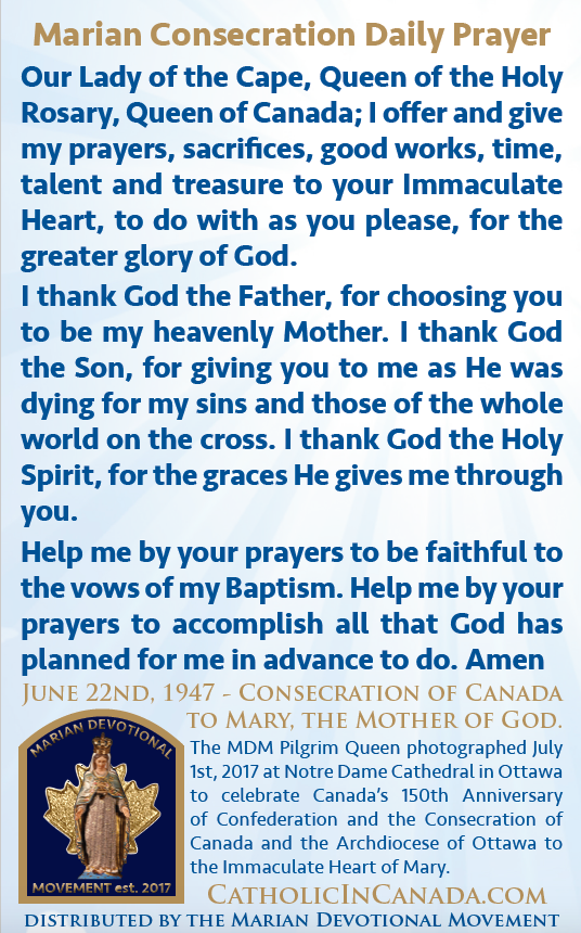 Marian Consecration Daily Prayer