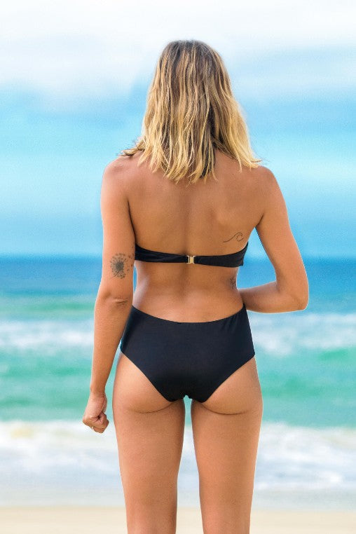 maiô body Monaco preto lille beachwear biodegradável costas