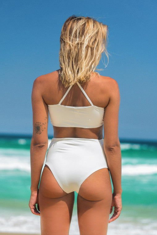 biquini Malibu off white lille beachwear biodegradável costas