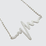EKG Necklace - Silver