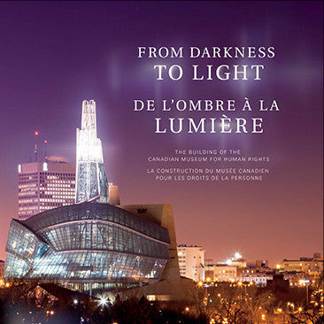"Cover of a book entitled ""From Darkness to Light""; the title appears in English and French"