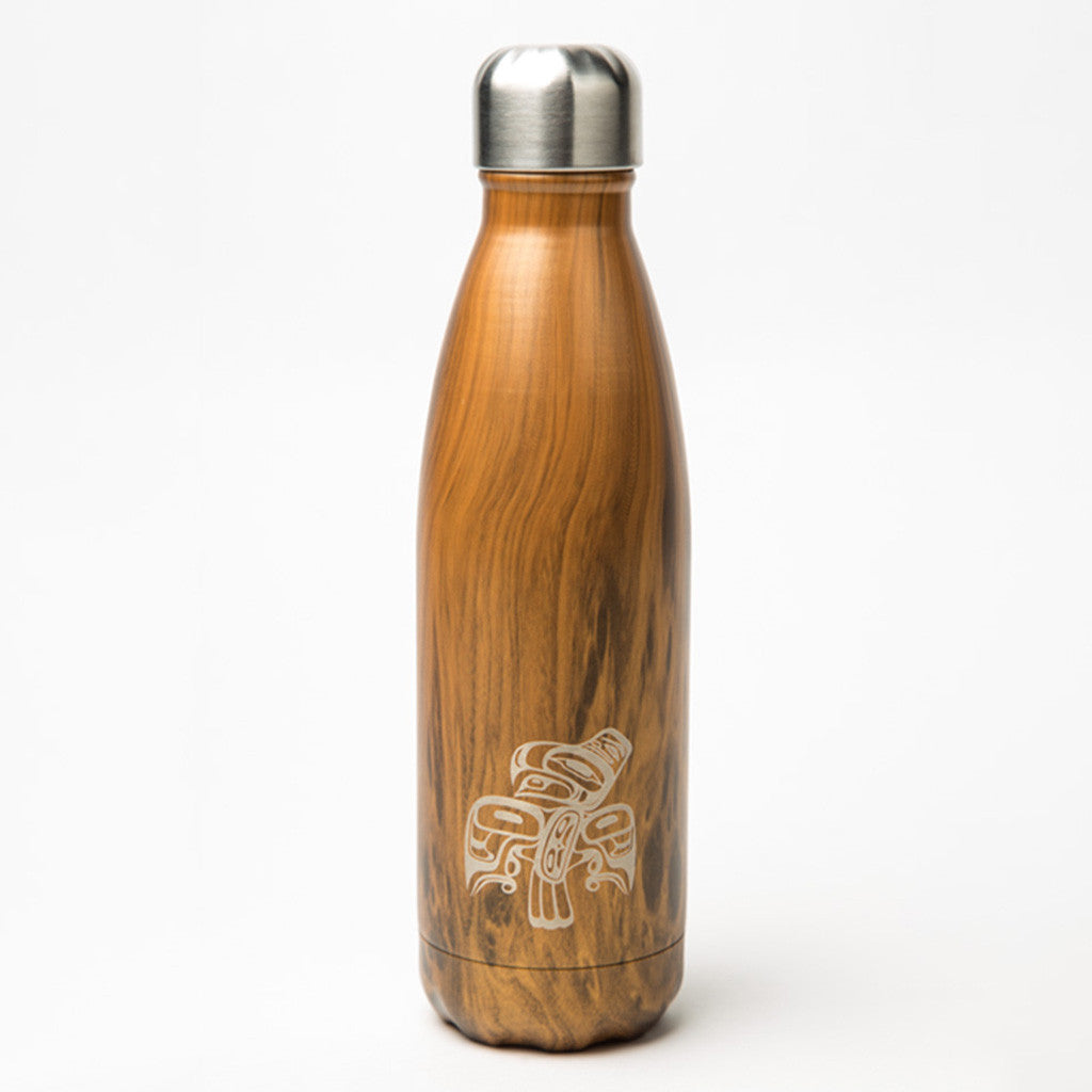 bottle featuring a Haida design of an eagle