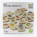 "box that reads ""Hand Sign Alphabet A-Z"""
