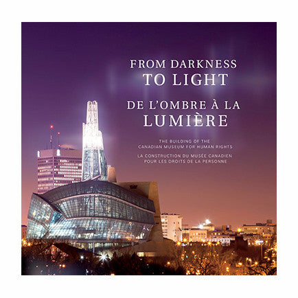 "Cover of a book entitled ""From Darkness to Light""; the title appears in English and French."