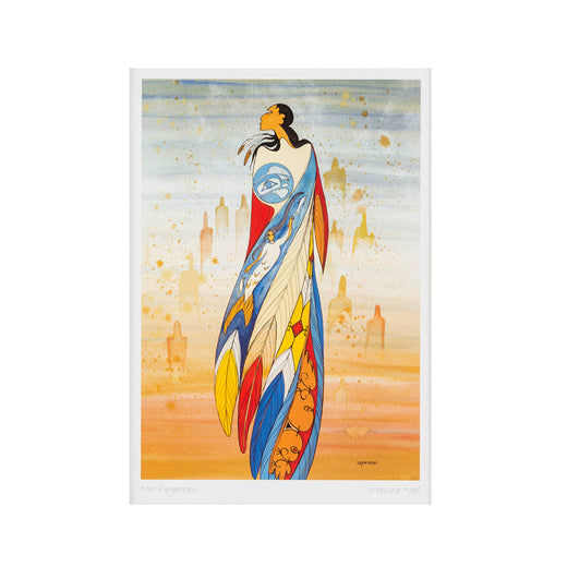 art card featuring art depicting an Indigenous woman