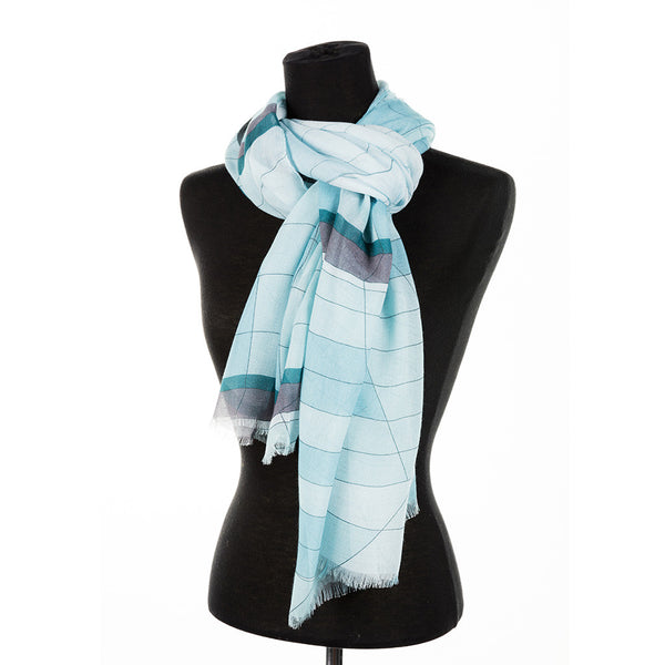 oblong scarf featuring a glass window design