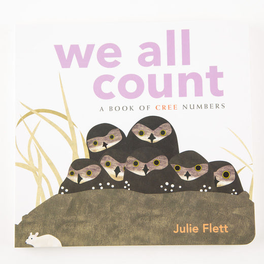 "cover of a book entitled ""We All Count – A Book of Cree Numbers"""