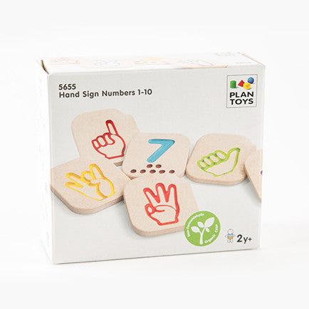 "box that reads ""Hand Sign Numbers 1-10"""