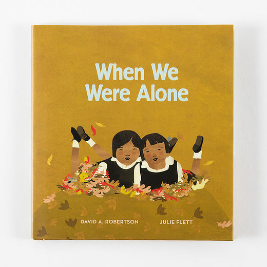 "Book cover with the title ""When We Were Alone"""