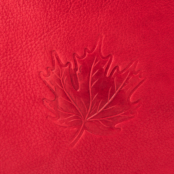 close-up of a maple leaf design