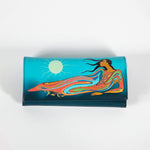 the front of a wallet featuring artwork by Indigenous artist Maxine Noel