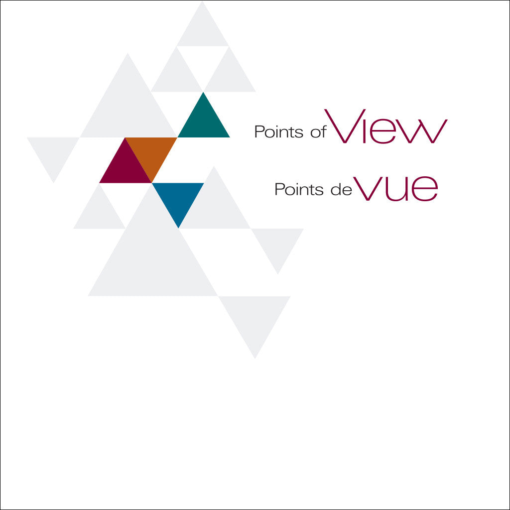 "book cover with a graphic images of triangles and the text ""Points of View"" and ""Points de vue"""