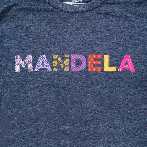 "close-up of the text ""MANDELA"" that appears on the front"
