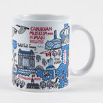 "Mug that features the text ""Canadian Museum for Human Rights"" and the Museum building"