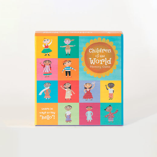 "Cover of a game with the text ""Children of the World Memory Game"""