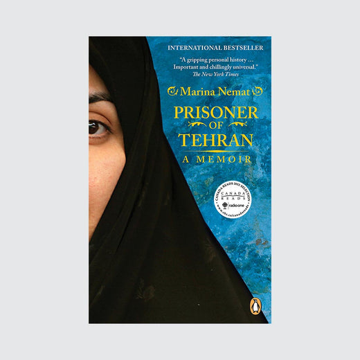 Book cover with the title and a photo of the partial face of a woman wearing a hijab.