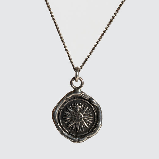 Direction Diamond Wax Seal Necklace