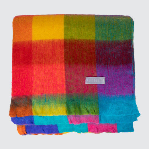 Multicoloured Alpaca Throw