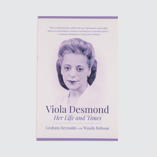Front book cover featuring a portrait of Viola Desmond.
