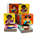 Board book set featuring important women in history. Books placed so that they're all visible.