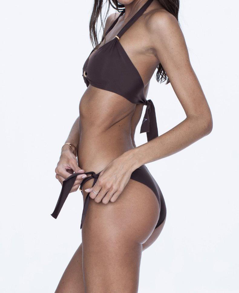 NALLA swimwear, chocolate bikini, versatile, comfort, summer look.