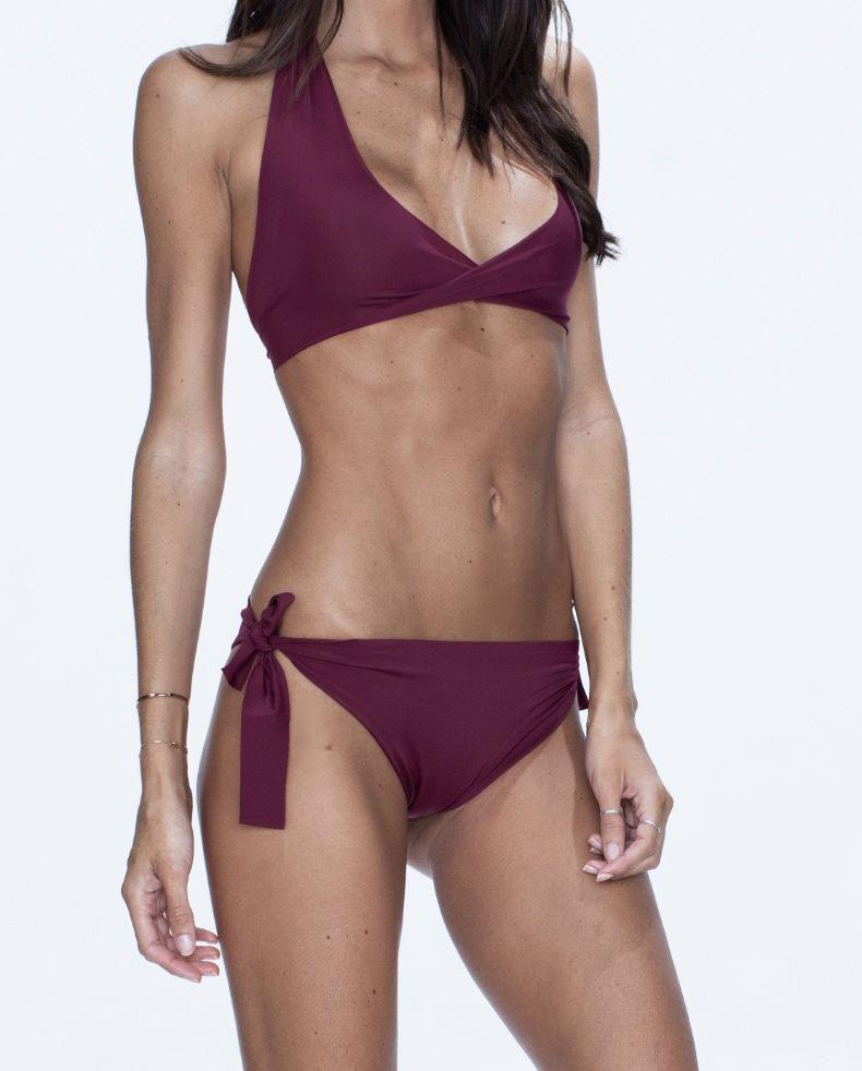 NALLA swimwear, grape bikini, versatile, comfort, summer look, purple.